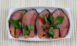 Smoked salmon Royalty Free Stock Images