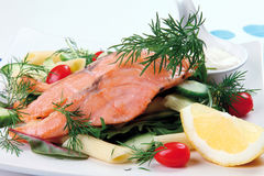 Smoked salmon Stock Photography