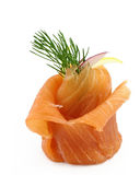 Smoked salmon appetizer Stock Photos