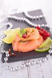 Smoked salmon, appetizer Stock Photography