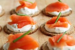 Smoked Salmon, Appetizer, Hors D Oeuvre, Dish Royalty Free Stock Photography
