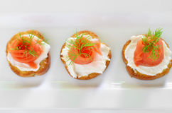 Smoked salmon appetizer Royalty Free Stock Photos