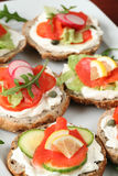 Smoked salmon appetizers Royalty Free Stock Photo