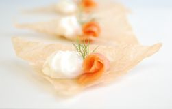 Smoked Salmon Appetizers Stock Photo