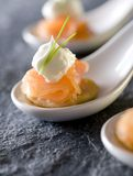 Smoked Salmon Appetizers Stock Image