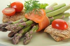 Smoked Salmon and Asparagus Royalty Free Stock Image