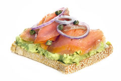 Smoked Salmon and Avocado on Toast royalty free stock images