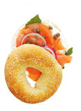 Smoked Salmon Bagel Royalty Free Stock Images