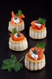 Smoked Salmon Canape Stock Photo