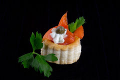 Smoked Salmon Canape Royalty Free Stock Image