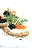 Smoked Salmon Canapes II Royalty Free Stock Images