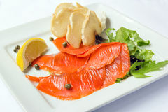 Smoked Salmon with Capers Royalty Free Stock Image