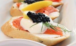 Smoked Salmon with Caviar Stock Image