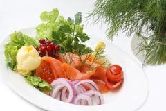 Smoked salmon and caviar Royalty Free Stock Image
