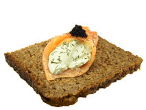 Smoked salmon and caviar Royalty Free Stock Images