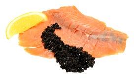 Smoked Salmon And Caviar Royalty Free Stock Images