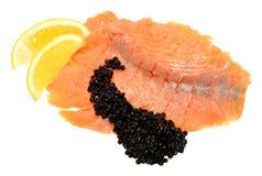 Smoked Salmon And Caviar Stock Photos