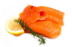 Smoked salmon close Stock Image