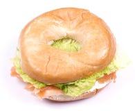 Smoked salmon and cream cheese bagel Stock Image