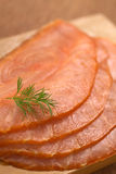 Smoked Salmon with Dill Stock Photography