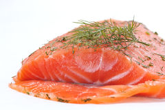 Smoked salmon with dill Royalty Free Stock Photography