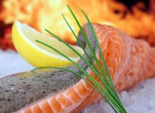 Smoked Salmon, Dish, Garnish, Cuisine Stock Images
