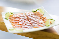 Smoked salmon dish Stock Image