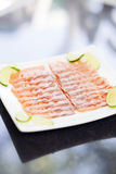 Smoked salmon dish Royalty Free Stock Image