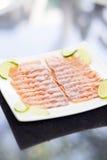 Smoked salmon dish Royalty Free Stock Image