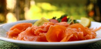 Smoked salmon Stock Image