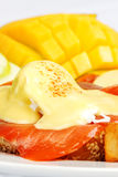 Smoked salmon eggs benedict Royalty Free Stock Image