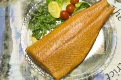Smoked salmon fillet royalty free stock photo