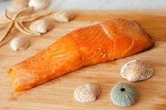 Smoked salmon fish Stock Photography