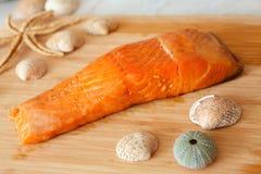 Smoked salmon fish stock photography
