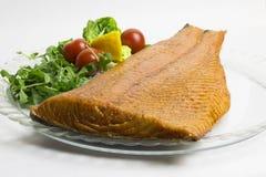 Smoked salmon fish fillet. royalty free stock photos