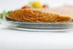 Smoked salmon fish fillet. stock image
