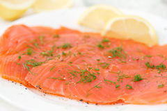 Smoked salmon Royalty Free Stock Photography