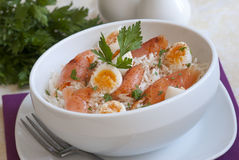 Smoked salmon kedgeree Stock Photography