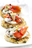 Smoked Salmon Latkes Royalty Free Stock Image