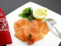 Smoked salmon with lemon 3 Royalty Free Stock Photos