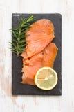 Smoked salmon with lemon Royalty Free Stock Photo
