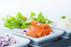 Smoked Salmon Lox Stock Image