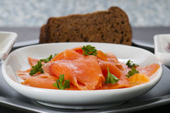 Smoked Salmon Lox Royalty Free Stock Photography