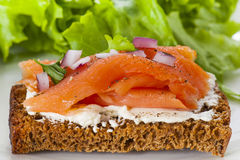 Smoked Salmon Lox Royalty Free Stock Image
