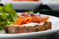 Smoked Salmon Lox Royalty Free Stock Photo
