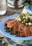 Smoked Salmon Lunch Stock Photos