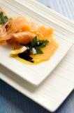 Smoked salmon marinated Royalty Free Stock Images