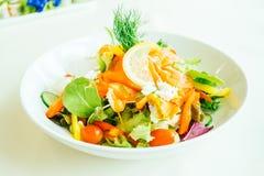 Smoked salmon meat salad