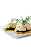 Smoked Salmon Pate Canapes Royalty Free Stock Image