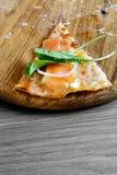 Smoked salmon pizza Royalty Free Stock Photo